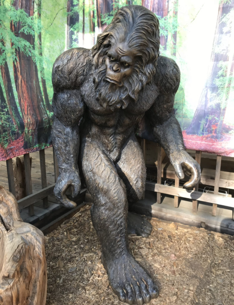 Bigfoot statue at a roadside store in northern california